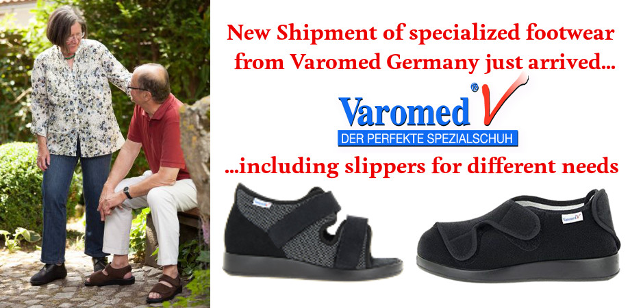 Comfoot Footwear promotional slide for Varomed shipment Arrival Feb 2019