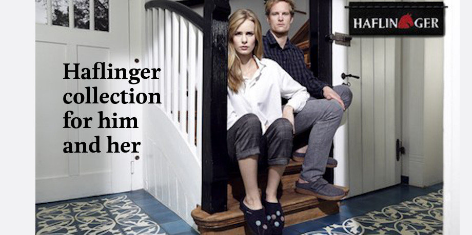 Haflinger slipper collection promotional image 2020